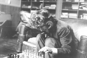 Peter playing chess
